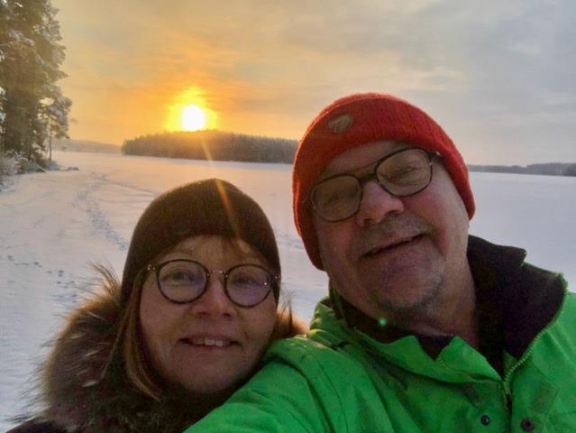Aviopari talvisäässä